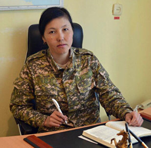 №02626 аскердик бөлүгүнүн корреспонденттик пунктунун башчысы, лейтенант Элиза Арапбаева
