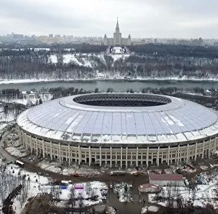 Ход реконструкции главного стадиона ЧМ-2018 заснял на дрон телеканал 360