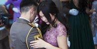 Курсантский бал в Кыргызской медицинской академии в Бишкеке