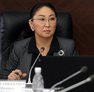 Архивное фото аице-премьер-министра Кыргызской Республики Чолпон Султанбековой