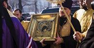Прибытие в Бишкек Казанской Вышенской иконы Божией матери. Архивное фото