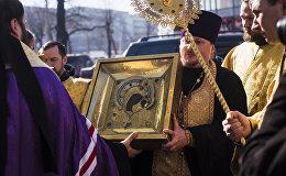 В Бишкек прибыли Казанская Вышенская икона Божией матери