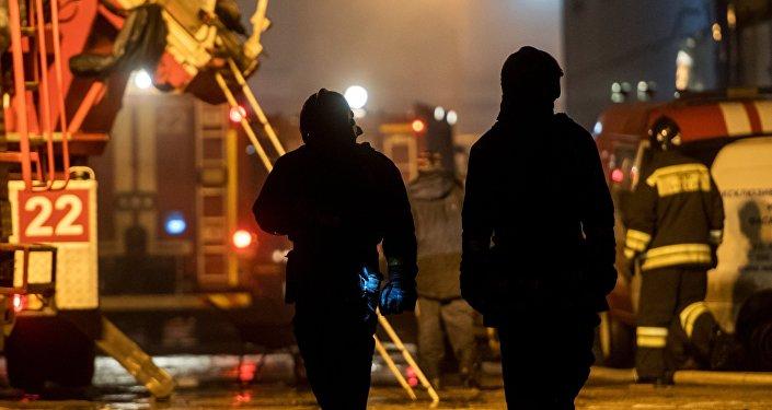 Пожар в центре скалолазания RockTown в Санкт-Петербурге
