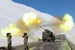 Обстрел лавинных очагов сотрудниками МЧС на автодороге Бишкек — Ош. Архивное фото