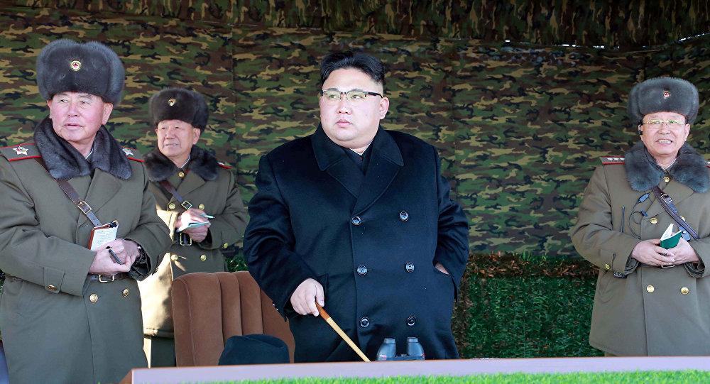 Түндүк Кореянын лидери Ким Чен Ындын архивдик сүрөтү