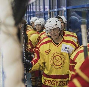 Кыргызстандык хоккей боюнча курама командасы. Архивдик сүрөт