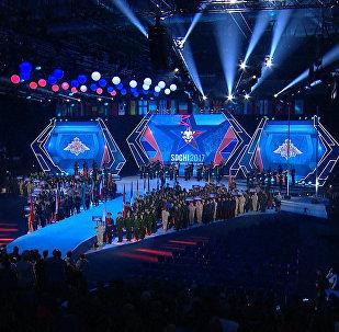 Церемония открытия военных игр в Сочи