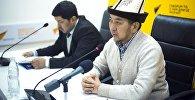 Заместитель муфтия и глава Временного республиканского штаба по организации хаджа Акимжан Эргешов на пресс-конференции в мультимедийном центре Sputnik Кыргызстан