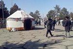 Бессрочный митинг сторонников Текебаева в Базар-Коргоне