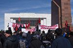 Бишкектеги Өмүрбек Текебаевдин тарапташтары уюштурган митинг