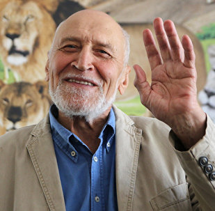 Архивное фото российского ученого-эколога и зоолога Николая Дроздова