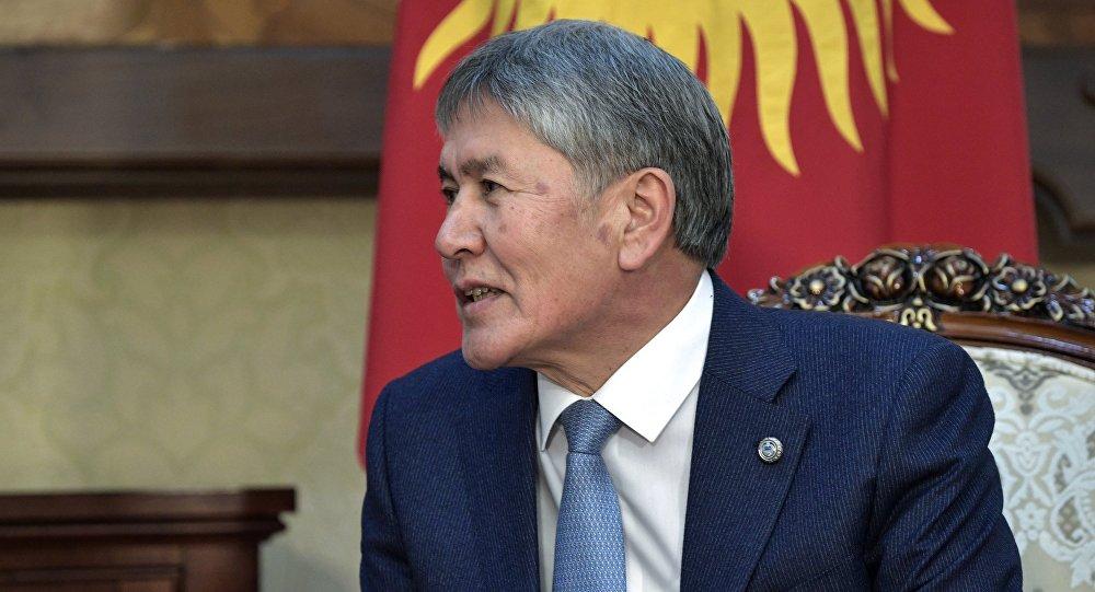 Кыргызстандын президенти Алмазбек Атамбаев РФ президенти Владимир Путин менен жолукканда