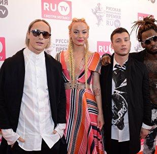 Участники группы Quest Pistols Show Даниил Мацейчук, Мариам Туркменбаева, Иван Криштофоренко и Вашингтон Саллес (слева направо). Архивное фото