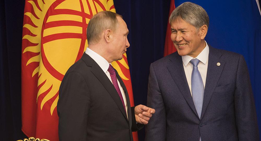 Путин втелефонном разговоре поздравил Атамбаева сднем рождения