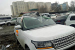 Илим Карыпбековдун Range Rover машинасы жол кырсыктан кийин. Архивдик сүрөт