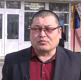 Ош электр ишканасынын маалымат катчысы Талгат Алиханов. Архив