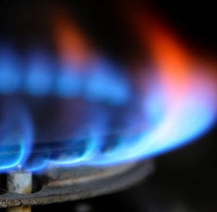 Пламя огня на газовой плите. Архивное фото