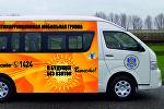 Образец специального автобуса мобильной агитационной группы в Астане