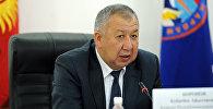 Биринчи вице-премьер Кубатбек Боронов. Архивное фото