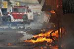 Во время тушения пожара. Архивное фото
