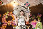 Участница конкурс красоты и талантов среди осужденных в преддверии 8 Марта в женской колонии №2 под Бишкеком