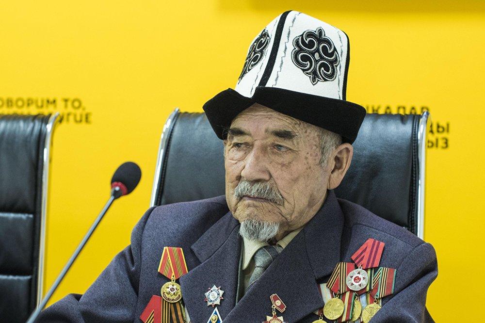 Ветеран Великой Отечественной войны Толонбай Чотбаев