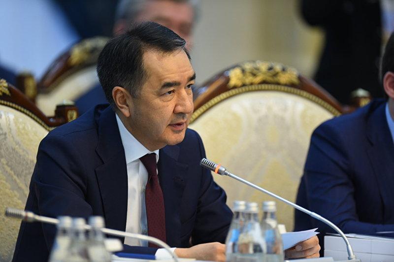 Премьер-министр Казахстана Бакытжан Сагинтаев на заседании Евразийского межправительственного совета в Бишкеке