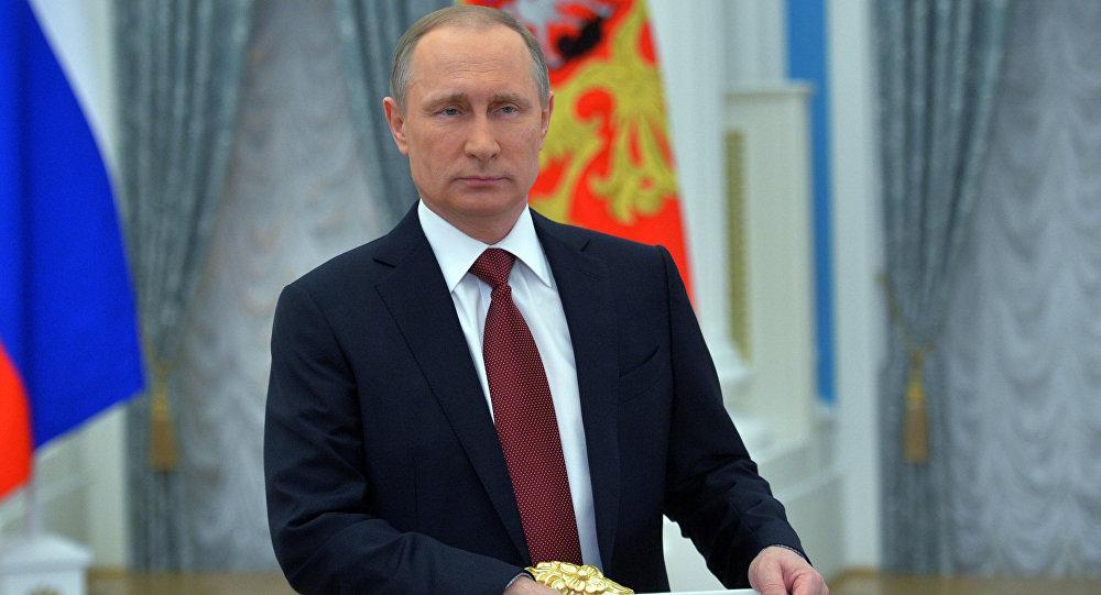 Архивное фото президента России Владимира Путина