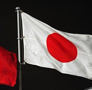 Кыргызстан жана Япония желектери. Архивдик сурөт