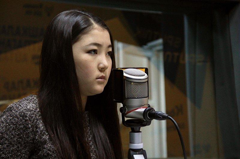 Студентка Казанского федерального университета Саида Керимжанова во время интервью Sputnik Кыргызстан
