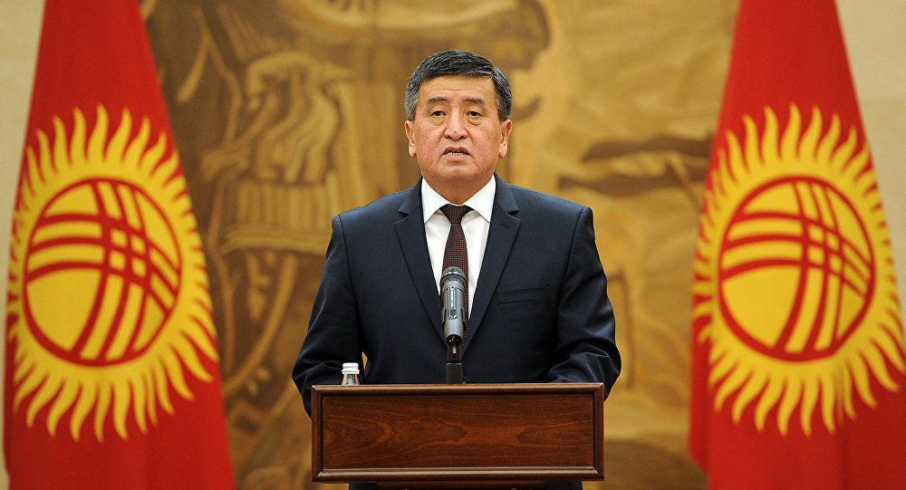 Кандидат в президенты КР Сооронбай Жээнбеков. Архивное фото