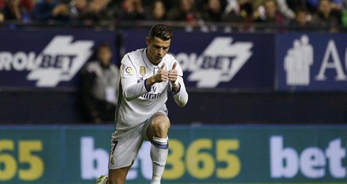 Нападающий ФК Реал Мадрид Криштиану Роналду