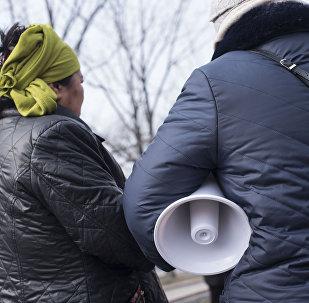 Участники на митинге. Архивное фото