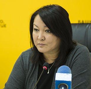 Консультант Минздрава КР по доказательной медицине Бермет Барыктабасова на пресс-конференции в мультимедийном центре Sputnik Кыргызстан