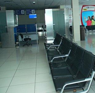 Зал ожидания в Международном аэропорту Манас в городе Ош. Архивное фото