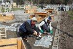 Ош шаарындагы Исхак Раззаков атындагы парктын 80 пайызы реконструкцияланып бүтүп калды.