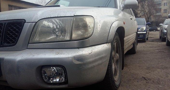 Машина марки Subaru Forester, задержанного водителя в подозрении в наезде