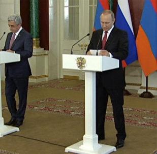 LIVE: Встреча Владимира Путина с Сержем Саргсяном