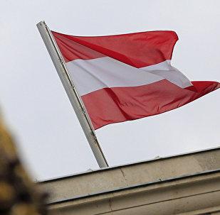 Государственный флаг Австрии. Архивное фото