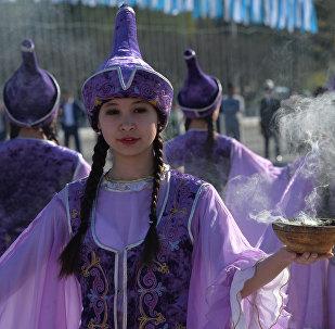 Празднование национального праздника Нооруз в Бишкеке. Архивное фото