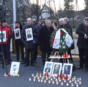 Акция протеста против марша протеста против марша ветеранов Waffen SS в Риге