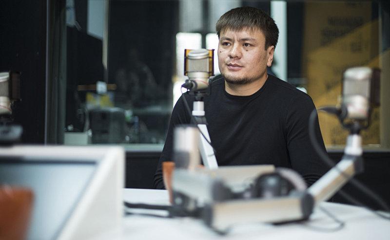 Кыргызстанский боец MMA Мыктыбек Мамасалиев, известный как Ак аюу во время интервью Sputnik Кыргызстан