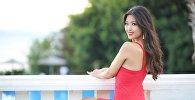 Белгилүү теле алып баруучу жана Азия сулуусу-2016 сынагынын катышуучусу Айжамал Осмонова. Архив