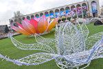 Оформление центральной площади Ала-Тоо к празднованию Нооруза