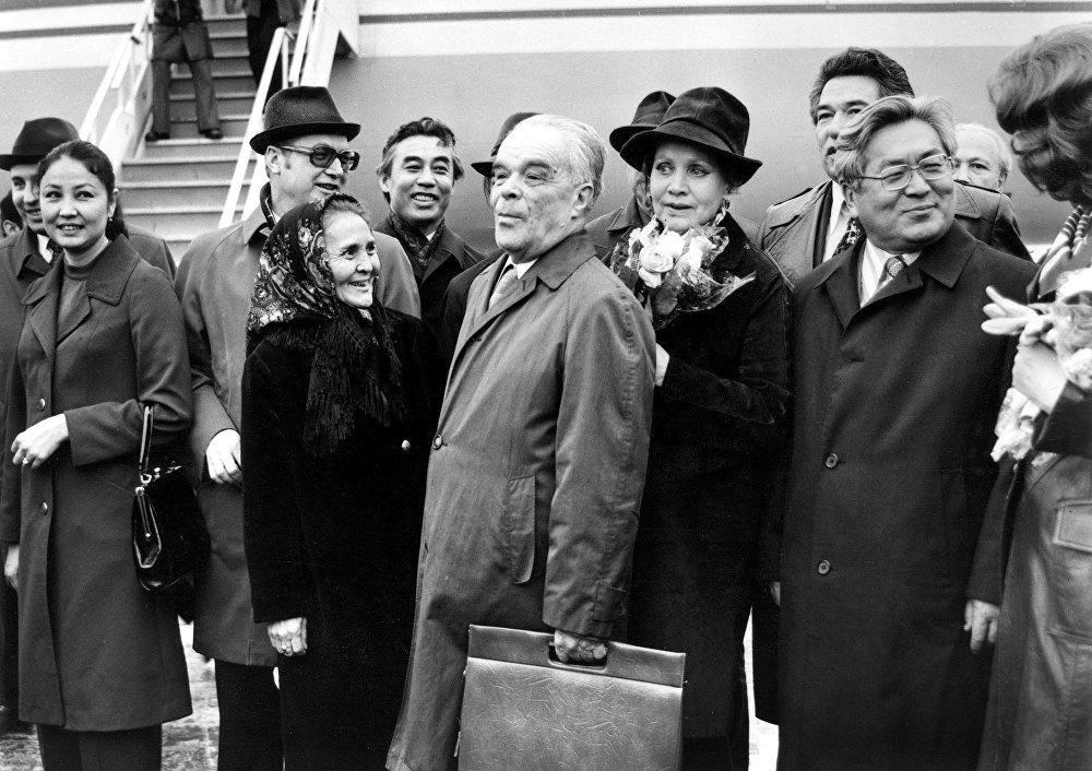 Встреча гостей Всесоюзного кинофестиваля в 1976 году