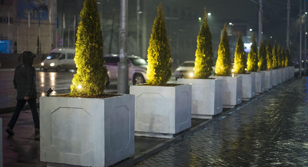 Дожди в Бишкеке. Архивное фото