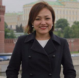Архивное фото журналистки Аиды Касымалиевой