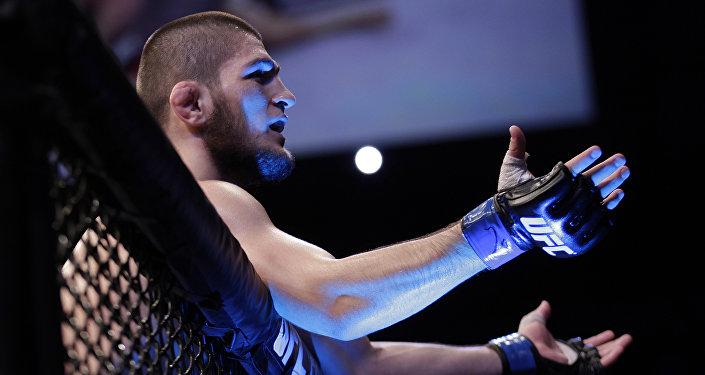 Боец UFC Хабиб Нурмагомедов. Архив