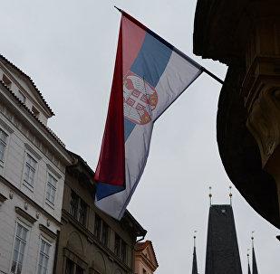 Флаг Сербии. Архивное фото