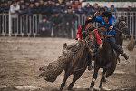 Финальные соревнования по кок бору ко дню Нооруза на ипподроме в Бишкеке